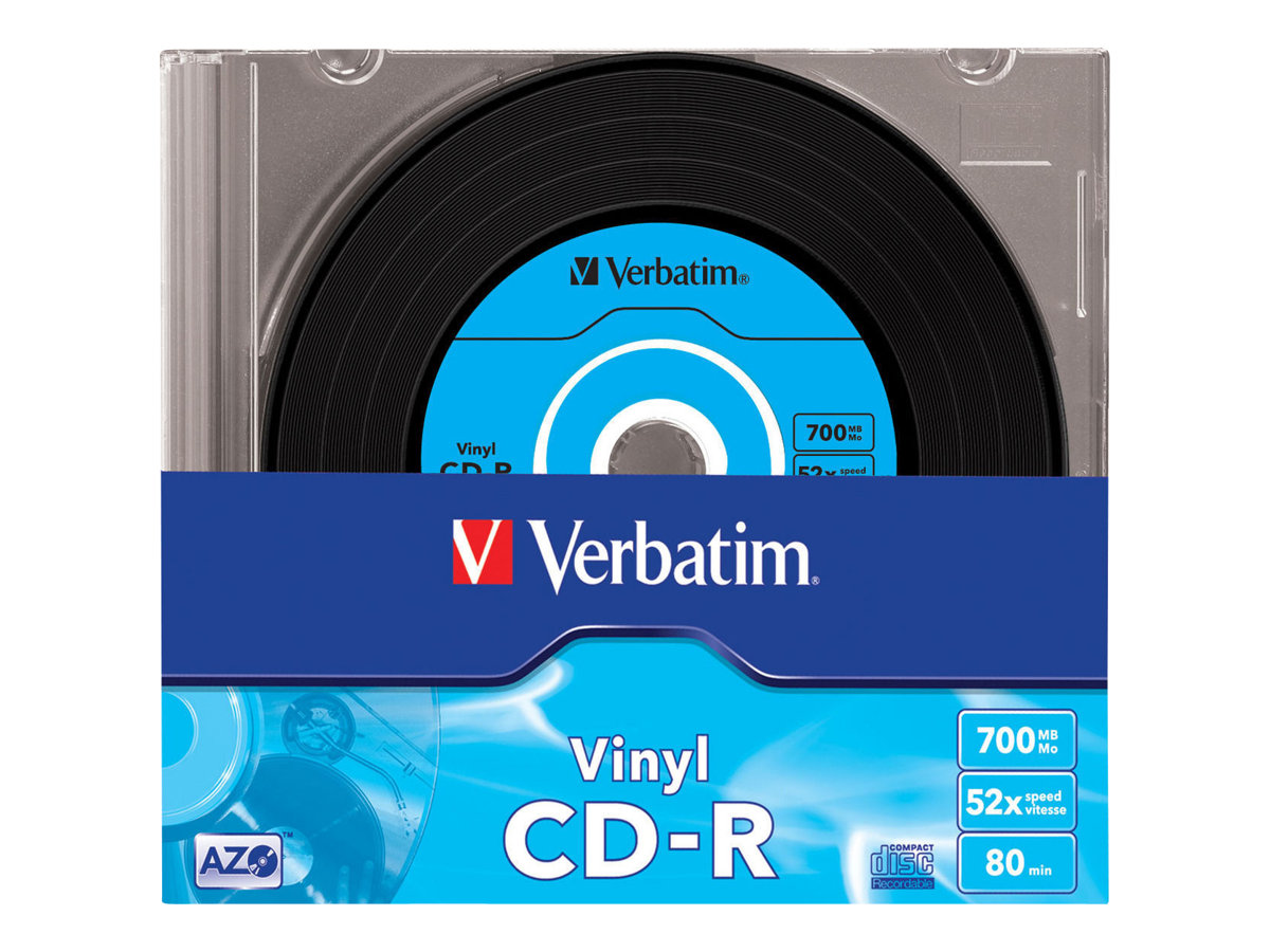 Verbatim Data Vinyl - 10 x CD-R - 700 MB 52x - Slim Jewel Case