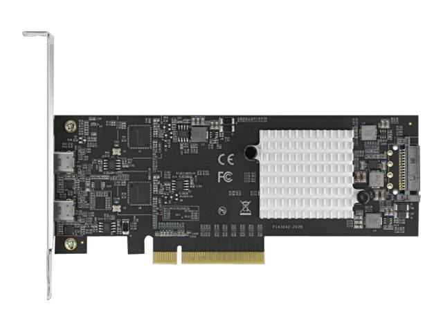 Delock - USB-Adapter - PCIe 2.0 x8 Low-Profile - USB-C 3.2 Gen 2x2 x 2