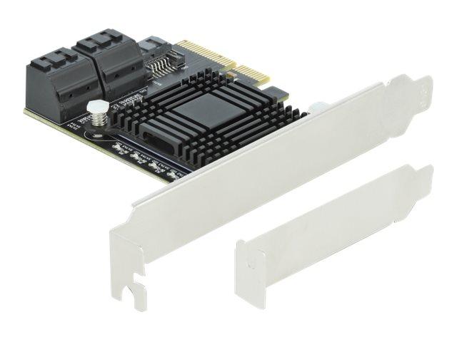 DeLOCK 5 port SATA PCI Express x4 Card - Low Profile Form Factor - Speicher-Controller - SATA 6Gb/s Low-Profile - 600 MBps - PCI