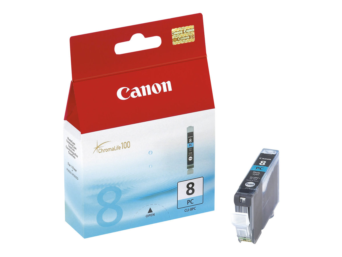 Canon CLI-8PC - Photo Cyan - Original - Tintenbehälter - für PIXMA iP6600D, iP6700D, MP950, MP960, MP970, Pro9000, Pro9000 Mark
