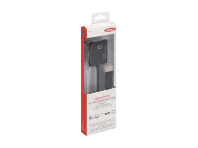 Ednet - DisplayPort-Adapter - DisplayPort (M) bis DVI-I (W) - 20 cm - geformt - Schwarz