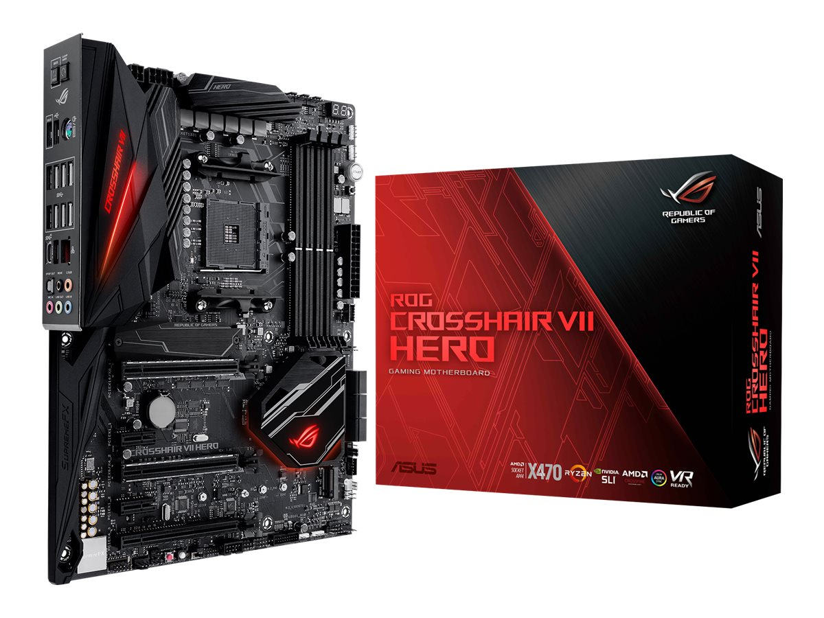 ASUS ROG CROSSHAIR VII HERO - Motherboard - ATX - Socket AM4 - AMD X470 - USB 3.1 Gen 1, USB-C Gen2, USB 3.1 Gen 2