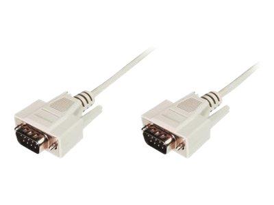 ASSMANN - Kabel seriell - DB-9 (M) bis DB-9 (M) - 3 m - geformt - beige