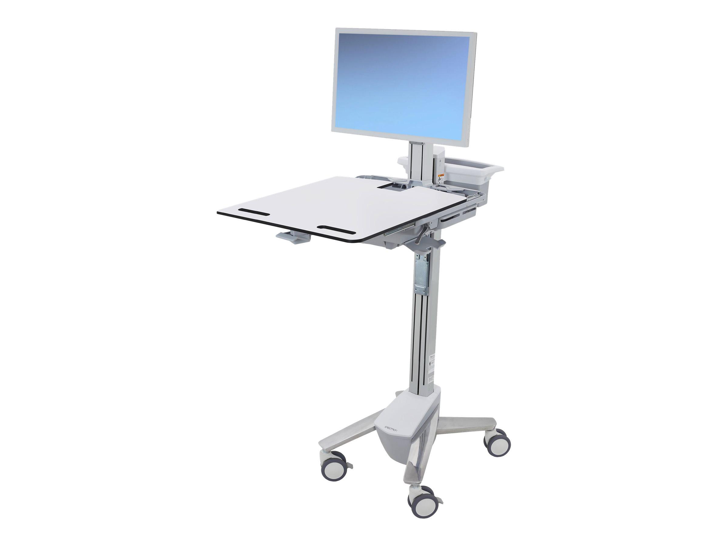 Ergotron Cart - Sliding Worksurface - Wagen für LCD-Bildschirm/Tastatur/Maus - medizinisch - Aluminium, verzinker Stahl, hochwer