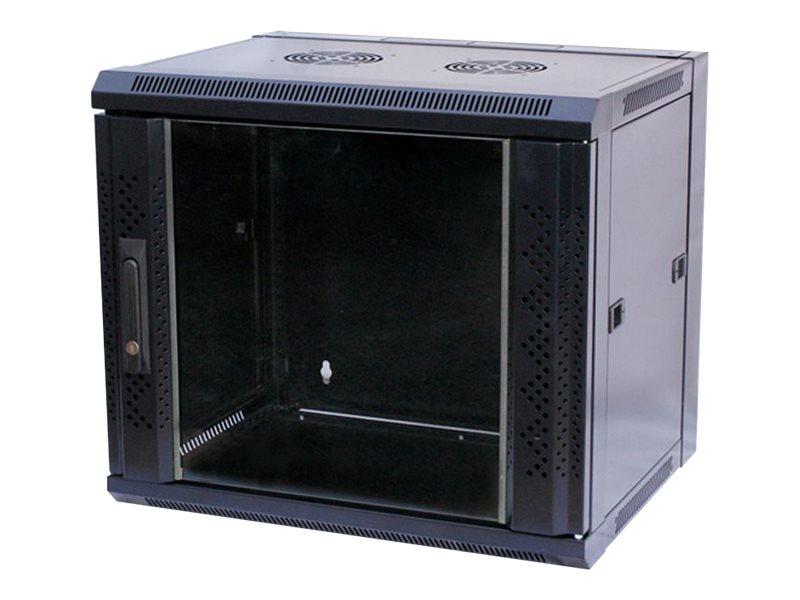 VALUE - Schrank - Netzwerkschrank - geeignet für Wandmontage - Schwarz, RAL 7021 - 12U