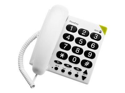 DORO PhoneEasy 311c - Telefon mit Schnur - weiss