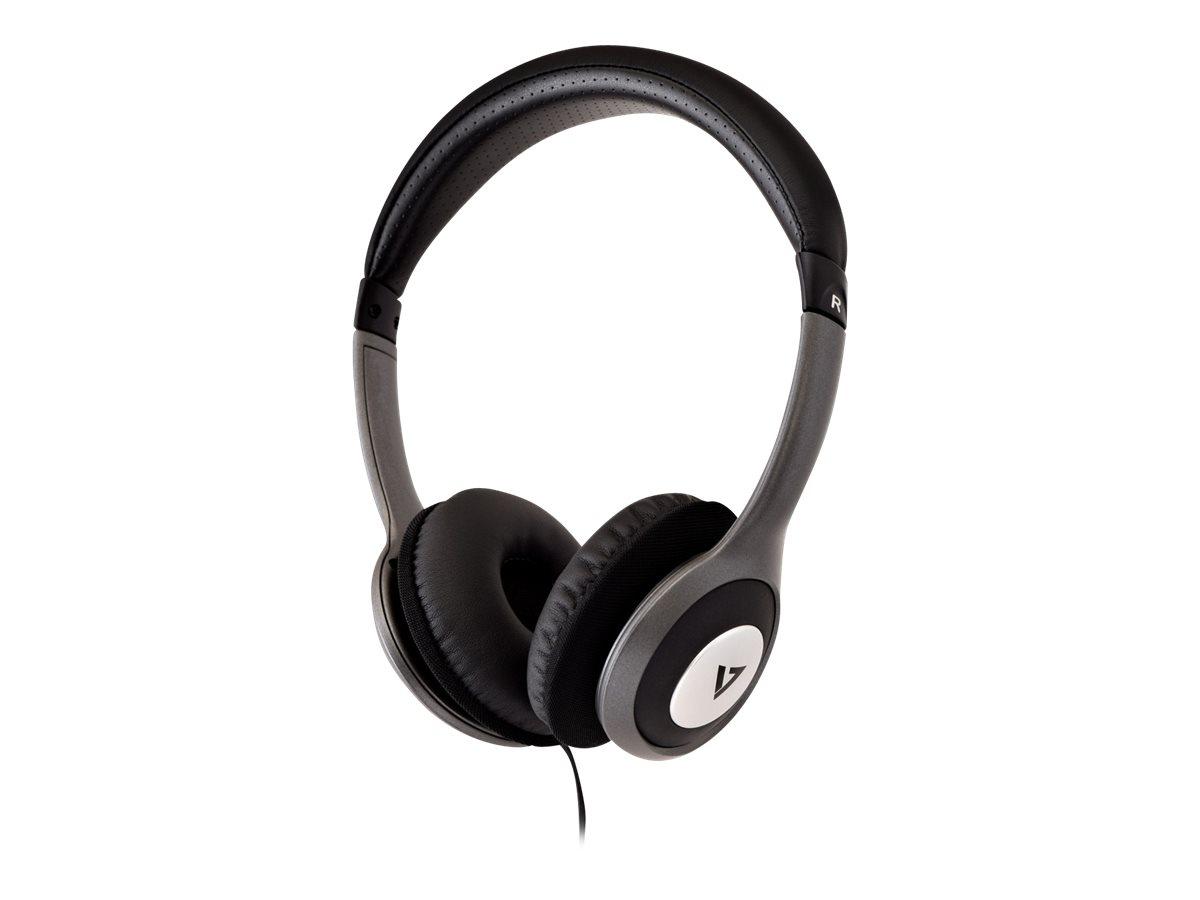 V7 HA520-2EP - Kopfhörer - On-Ear - kabelgebunden - 3,5 mm Stecker - Schwarz