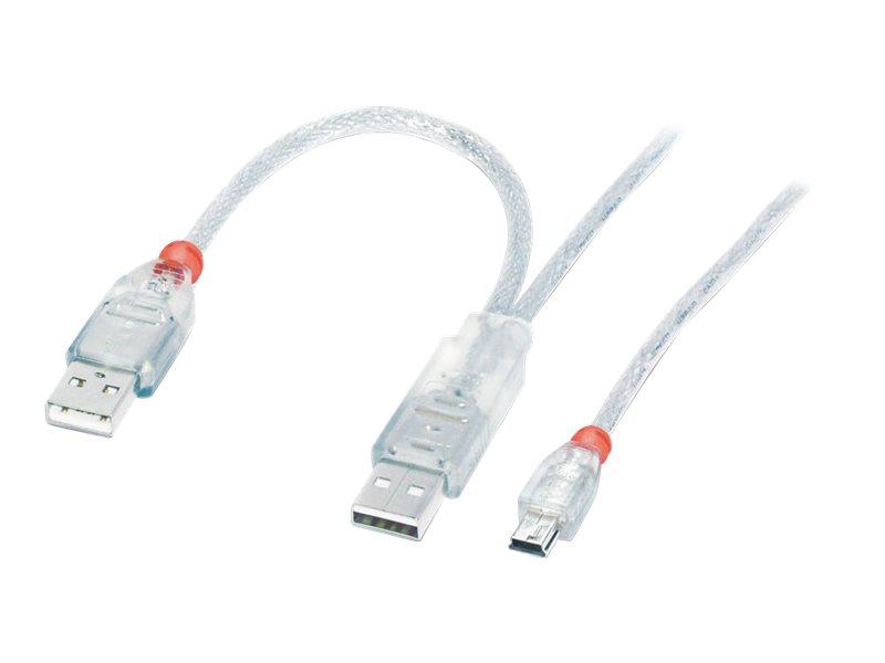 Lindy - USB-Kabel - USB, USB (nur Strom) (M) bis Mini-USB, Typ B (M) - USB 2.0 - 2 m - geformt