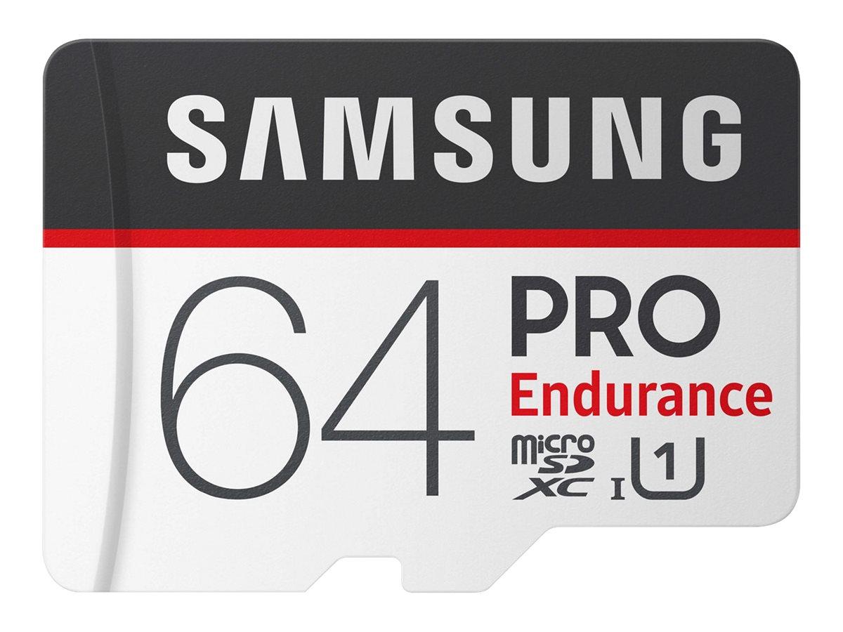 Samsung PRO Endurance MB-MJ64GA - Flash-Speicherkarte (microSDXC-an-SD-Adapter inbegriffen) - 64 GB - UHS-I U1 / Class10 - micro