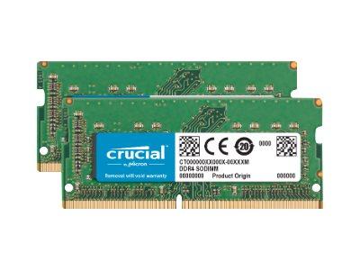 Crucial - DDR4 - 32 GB: 2 x 16 GB - SO DIMM 260-PIN - 2400 MHz / PC4-19200 - CL17