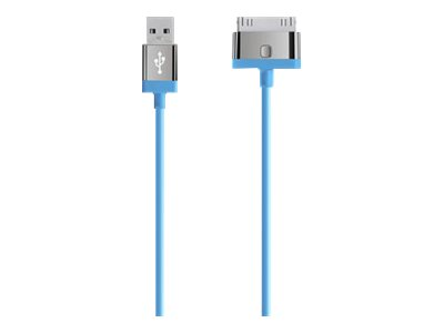 Belkin MIXIT ChargeSync Cable - Lade-/Datenkabel - USB (M) bis Apple Dock (M) - 2 m - Blau - für Apple iPad/iPhone/iPod (Apple D
