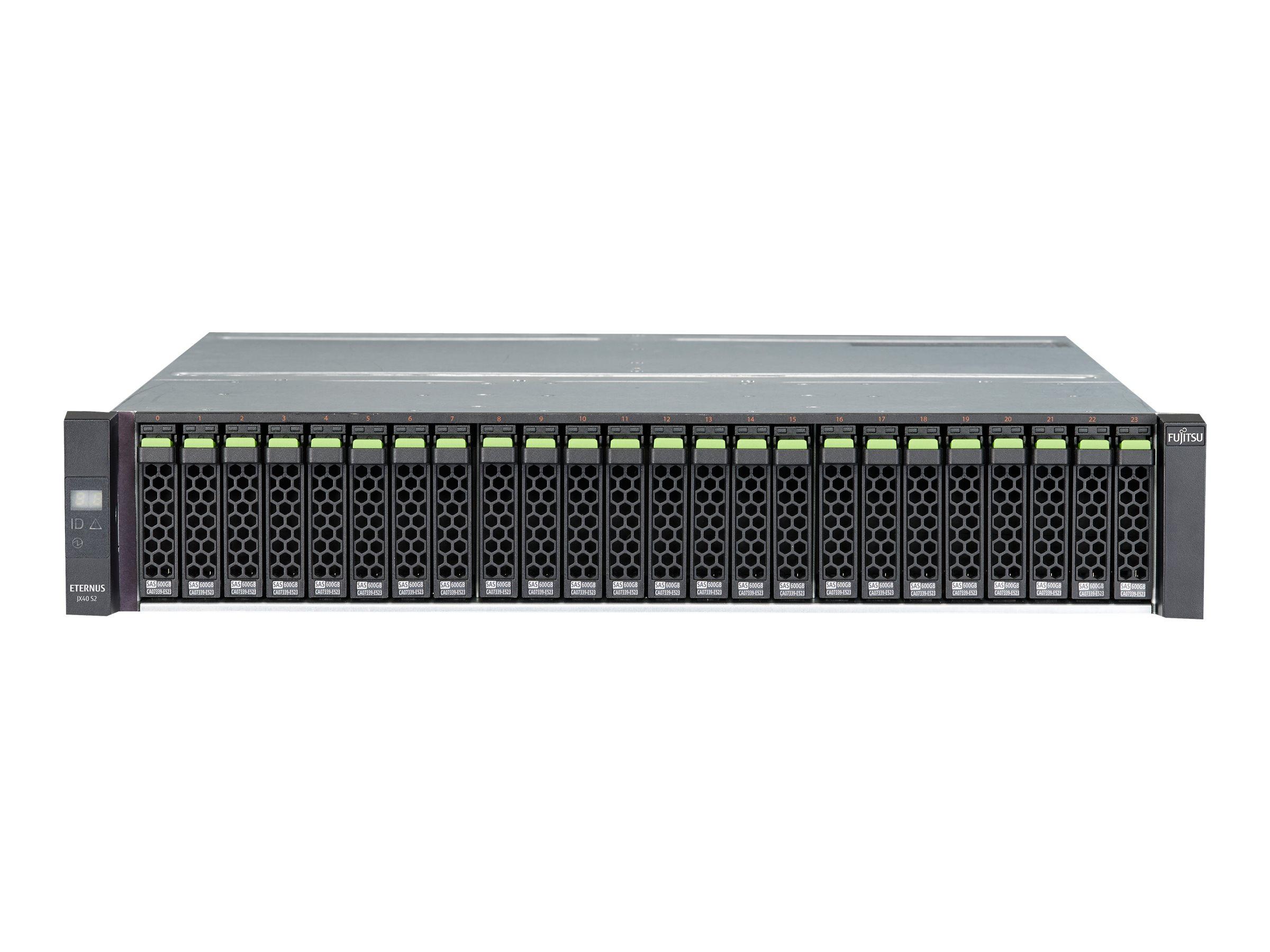 Fujitsu ETERNUS JX 40 S2 - Speichergehäuse - 12 Schächte (SAS-3) - Rack - einbaufähig - 2U