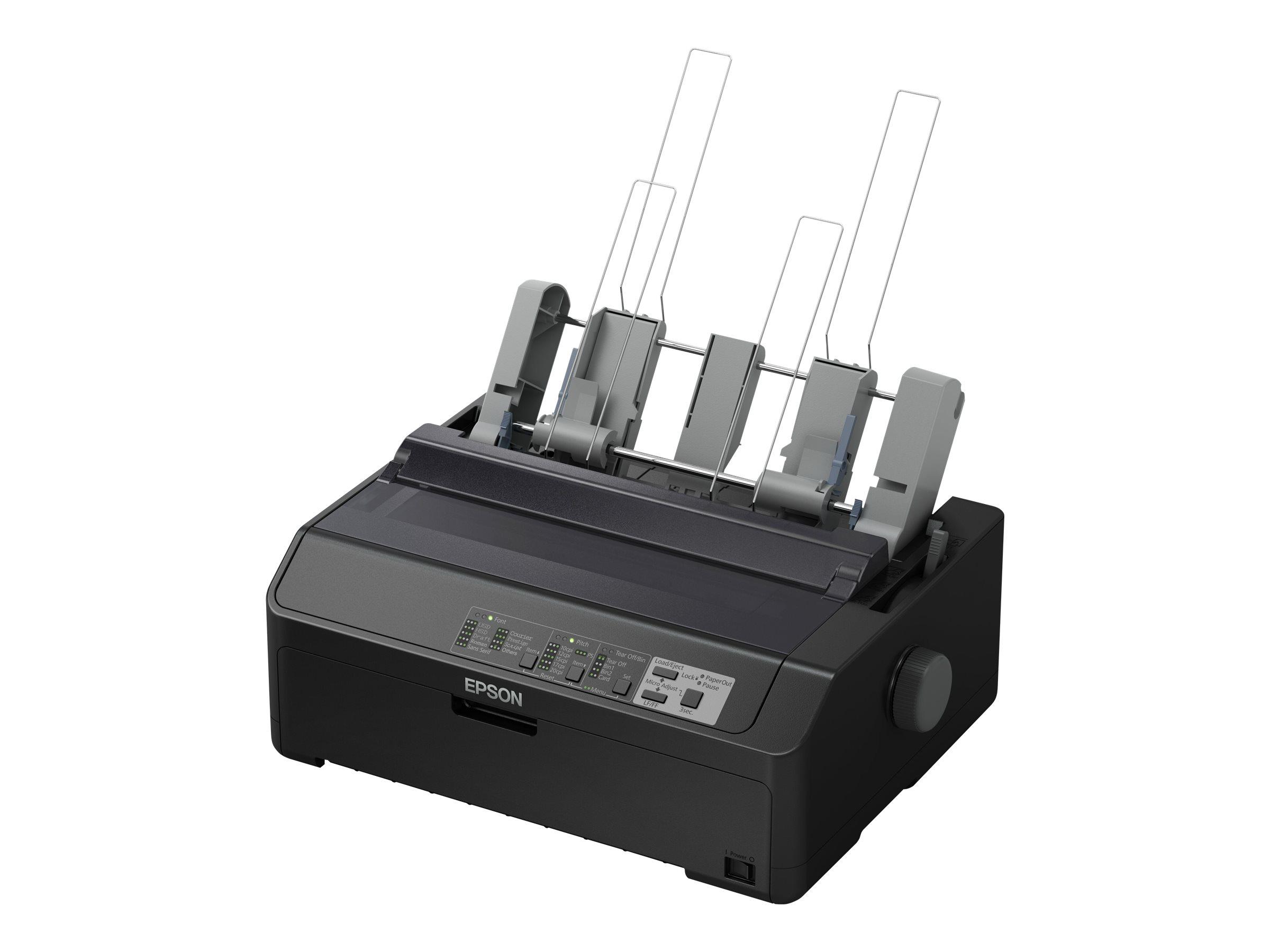 Epson LQ 590IIN - Drucker - monochrom - Punktmatrix - Rolle (21,6 cm), JIS B4, 254 mm (Breite) - 360 x 180 dpi