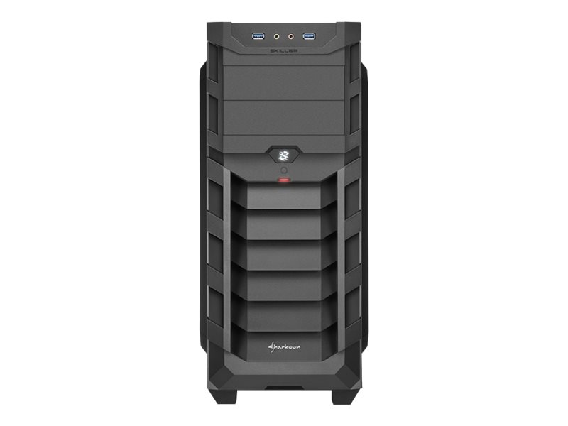 Sharkoon SKILLER SGC1 Window - Midi Tower - ATX - ohne Netzteil - red interior painting - USB/Audio