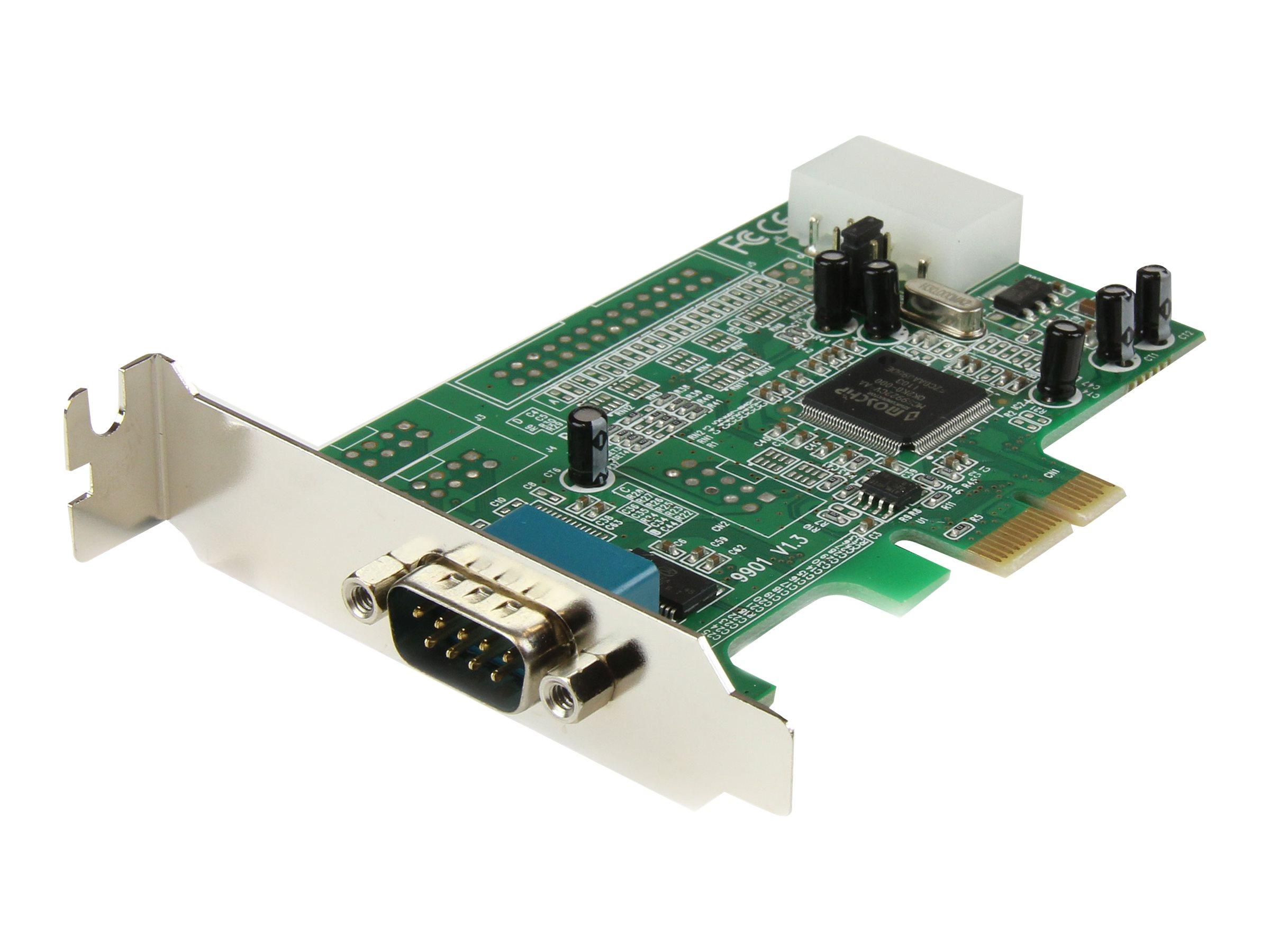 StarTech.com Seriell RS232 PCI Express Schnittstellenkarte mit 16550 UART - Low Profile - Serieller Adapter - PCIe Low-Profile -