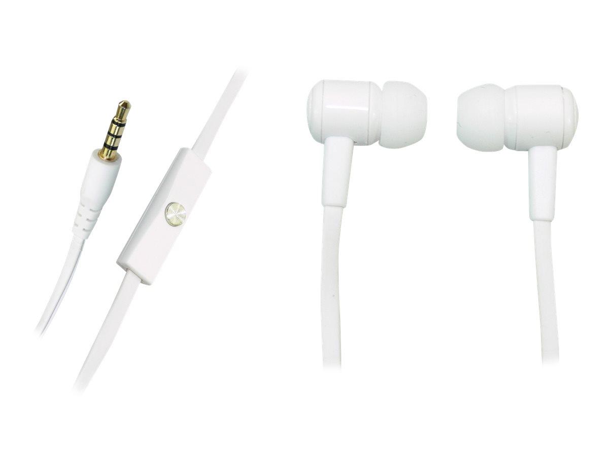 Sandberg Speak'n Go In-Earset - Ohrhörer mit Mikrofon - im Ohr - kabelgebunden - 3,5 mm Stecker - weiss