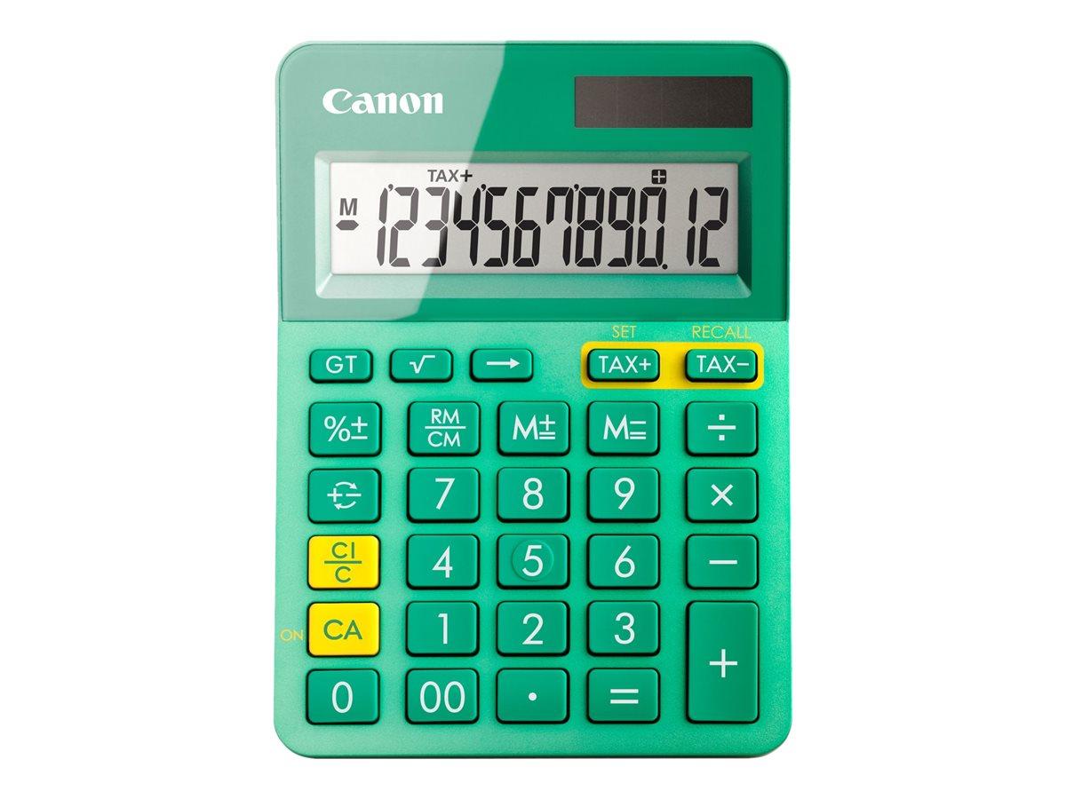 Canon LS-123K - Desktop-Taschenrechner - 12 Stellen - Solarpanel, Batterie - Türkis