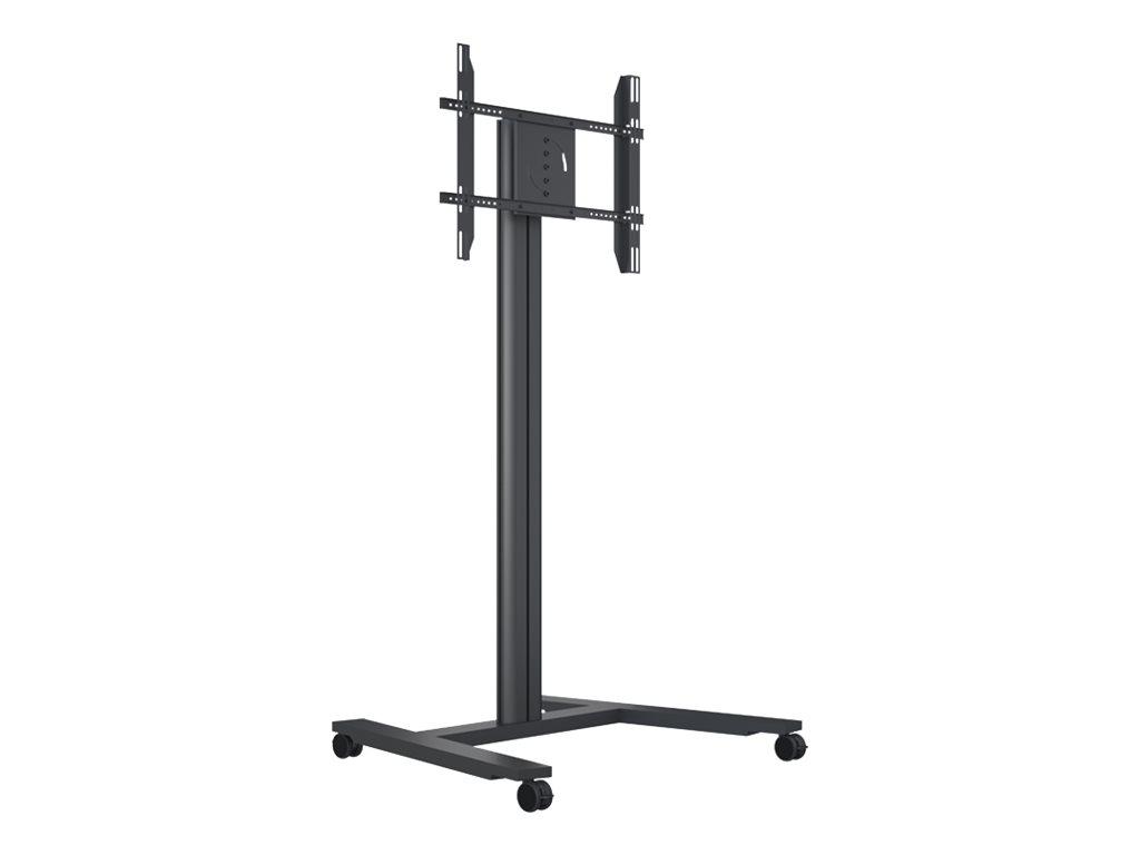 HAGOR DS Stand Single - Wagen für LCD-Display - Aluminium - Schwarz - Bildschirmgrösse: 116.8-165.1 cm (46