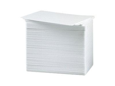 Zebra Premier - Polyvinylchlorid (PVC) - 15 mil - weiss - CR-80 Card (85.6 x 54 mm) 500 Karte(n) Karten