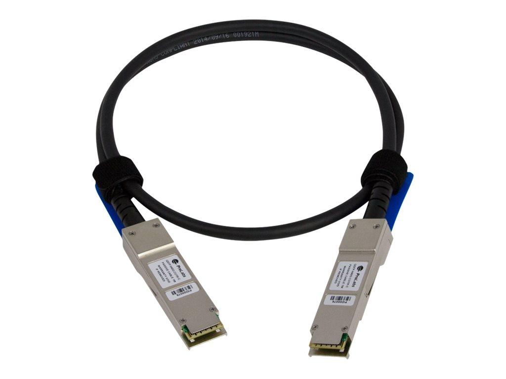 Prolabs - Netzwerkkabel - QSFP+ bis QSFP+ - 1 m - IEEE 802.3ba - für Cisco Nexus 93108TC-EX, 93180YC-FX, 9336C-FX2, 9372PX-E