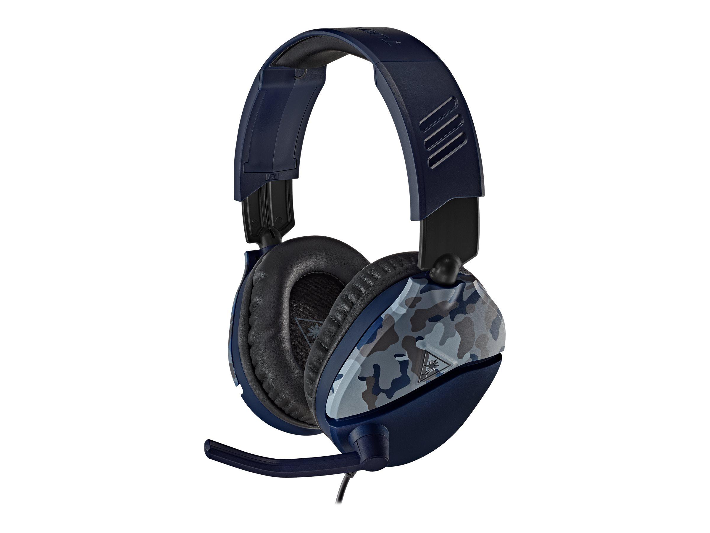 Turtle Beach Recon 70 - Headset - ohrumschliessend - kabelgebunden - 3,5 mm Stecker - Blue Camo