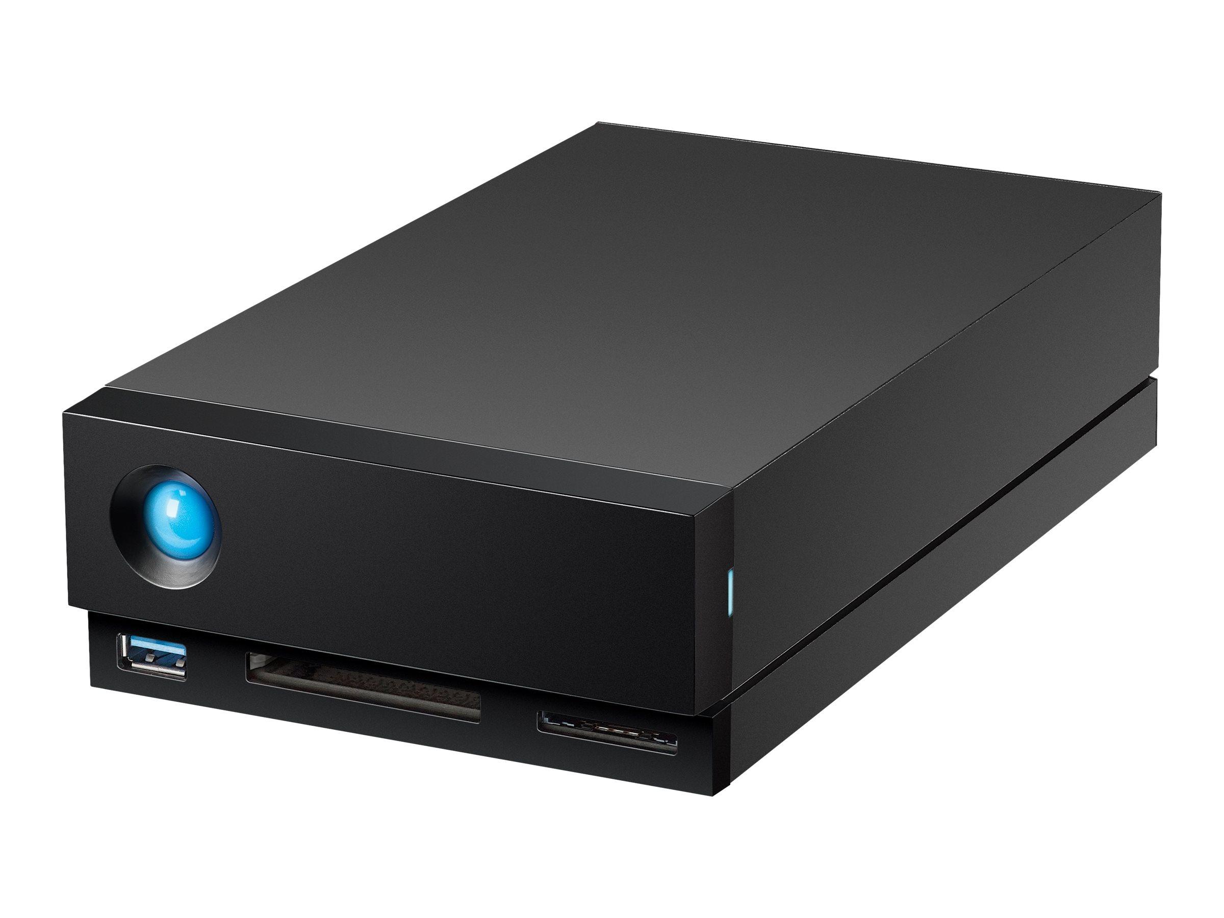 LaCie 1big Dock STHS16000800 - Festplatten-Array - 16 TB - 1 Schächte (SATA-600) - HDD 16 TB x 1 - USB 3.1, Thunderbolt 3 (exter