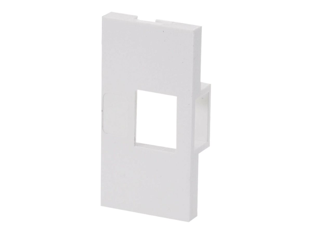 LINDY Single Snap-in Block - Frontabdeckung - Abdeckung mit einer Aussparung - 1 Anschluss (Packung mit 4)