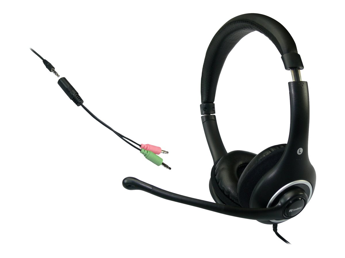 Sandberg Plug'n Talk - Headset - Full-Size - kabelgebunden - Schwarz