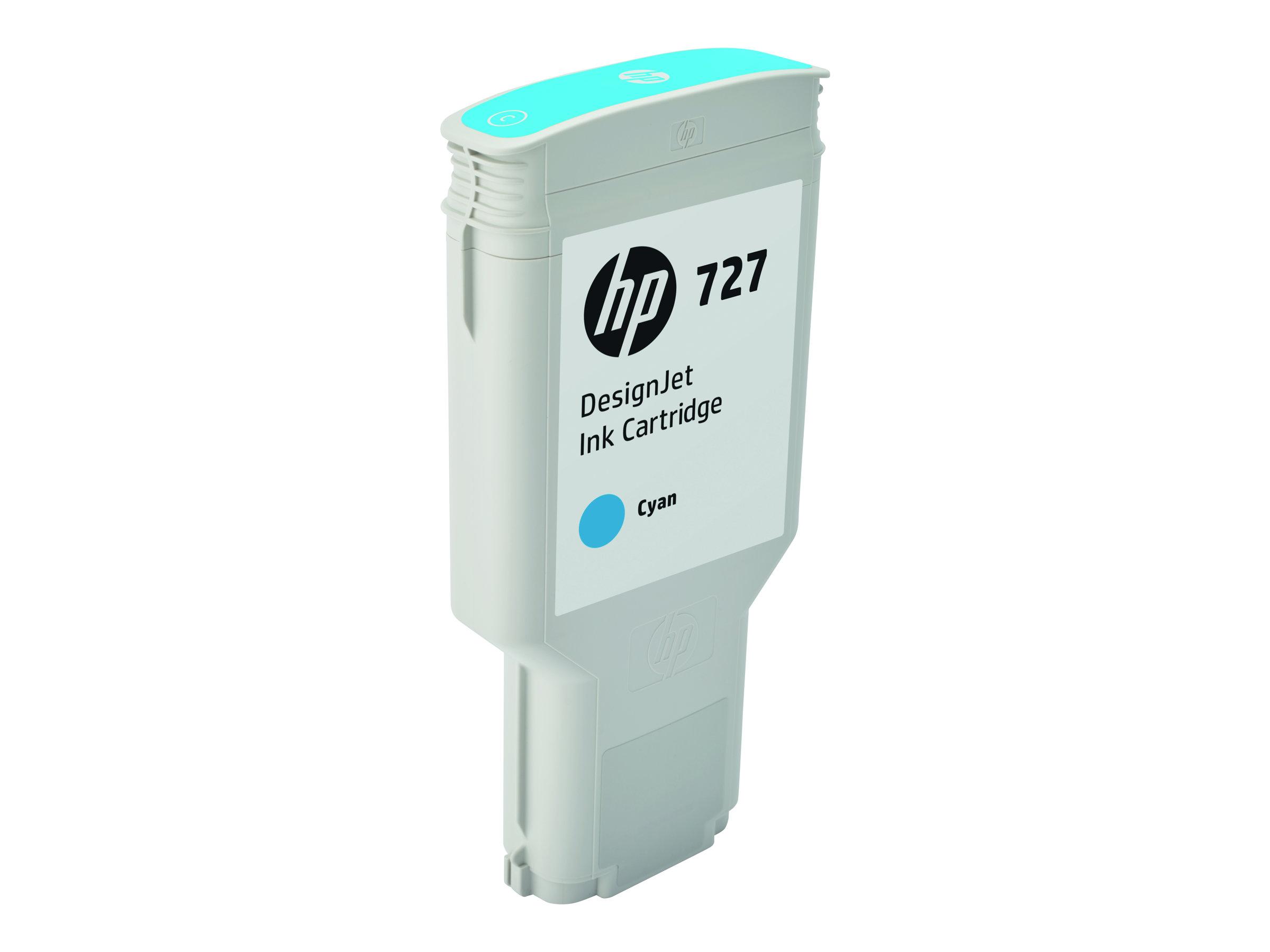 HP 727 - 300 ml - mit hoher Kapazität - Dye-Based Cyan - Original - DesignJet