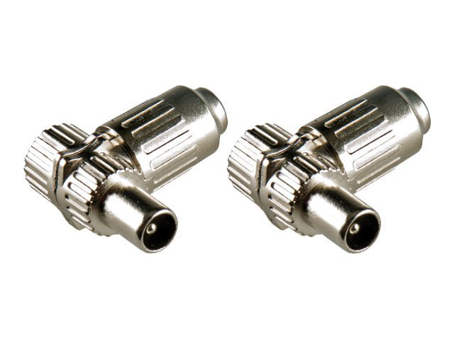 Bandridge IEC Coax Male Connectors - Antennenanschluss - IEC-Anschluss (M) (Packung von 2 )
