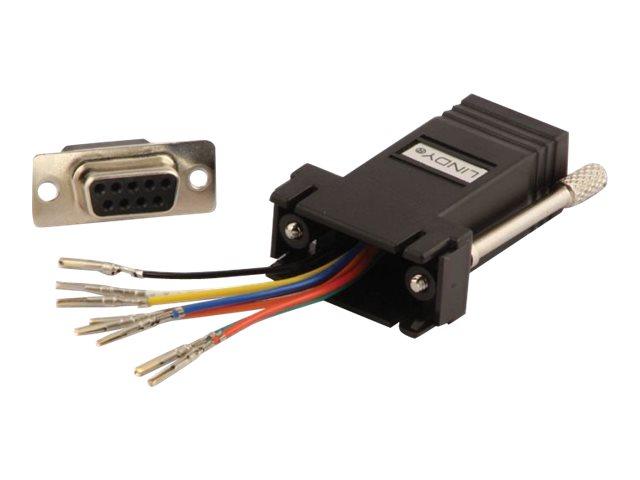 Lindy - Serieller Adapter - DB-9 (W) bis RJ-45 (W)