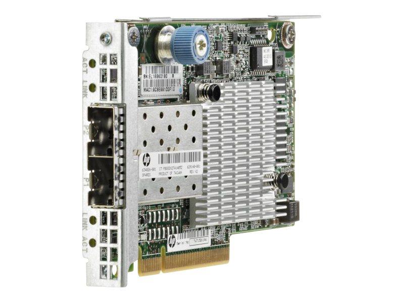 HPE FlexFabric 554FLR-SFP+ - Netzwerkadapter - PCIe 2.0 x8 - 10 GigE - 2 Anschlüsse - für ProLiant DL360p Gen8, DL380p Gen8, DL3
