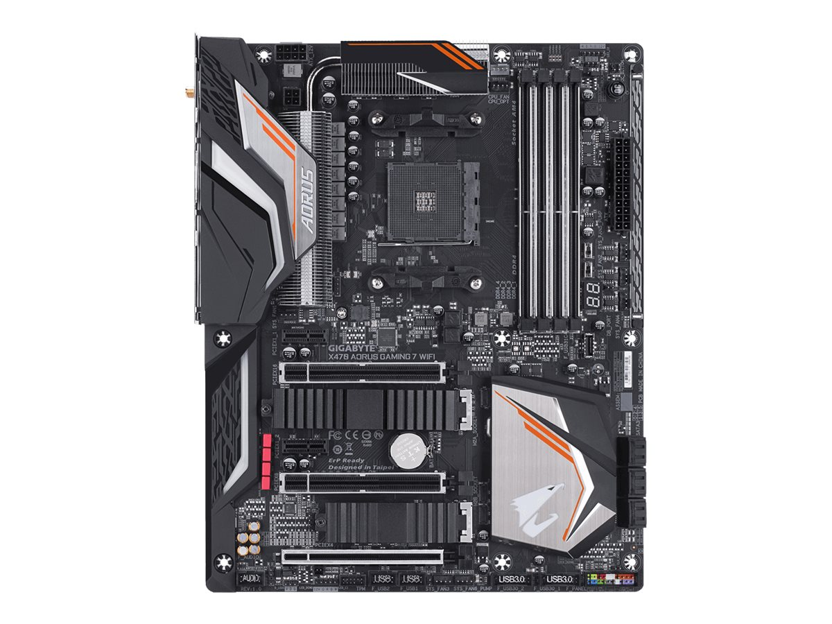 Gigabyte X470 AORUS GAMING 7 WIFI - 1.0 - Motherboard - ATX - Socket AM4 - AMD X470