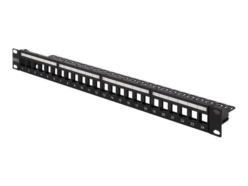 DIGITUS Professional DN-91411-LF - Patchpanel (Blindblech) - Rack montierbar - Schwarz, RAL 9005 - 1U - 48.3 cm (19