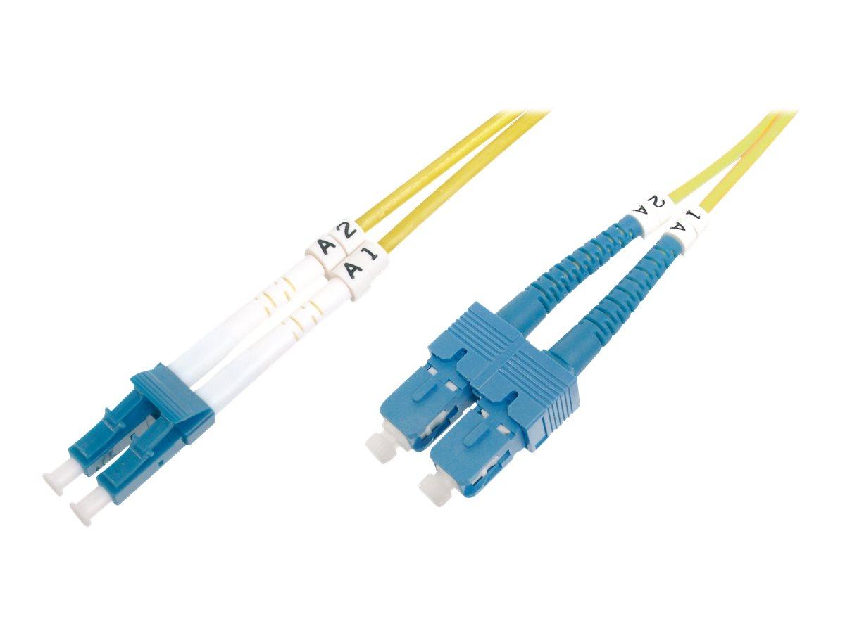 DIGITUS - Patch-Kabel - LC/APC Einzelmodus (M) bis SC/PC Einzelmodus (M) - 2 m - Glasfaser - 9/125 Mikrometer