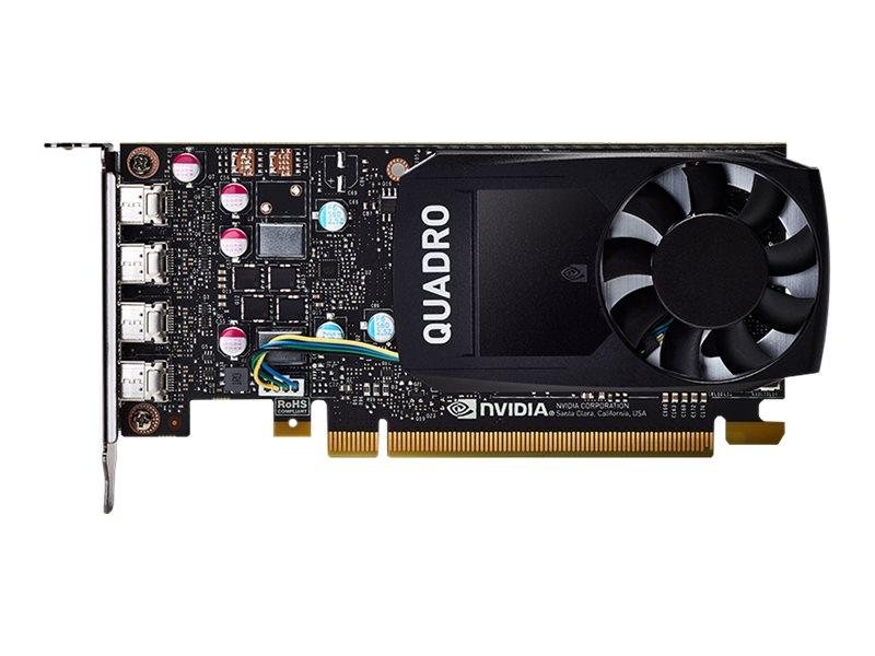 NVIDIA Quadro P620 - Grafikkarten - Quadro P620 - 2 GB GDDR5 - PCIe 3.0 x16 Low-Profile - 4 x Mini DisplayPort