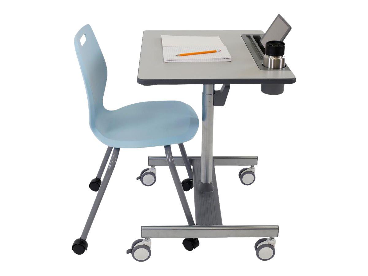 Ergotron LearnFit SE2 Short - Sitz-/ Stehtisch - mobil - rechteckig - Medium Grey