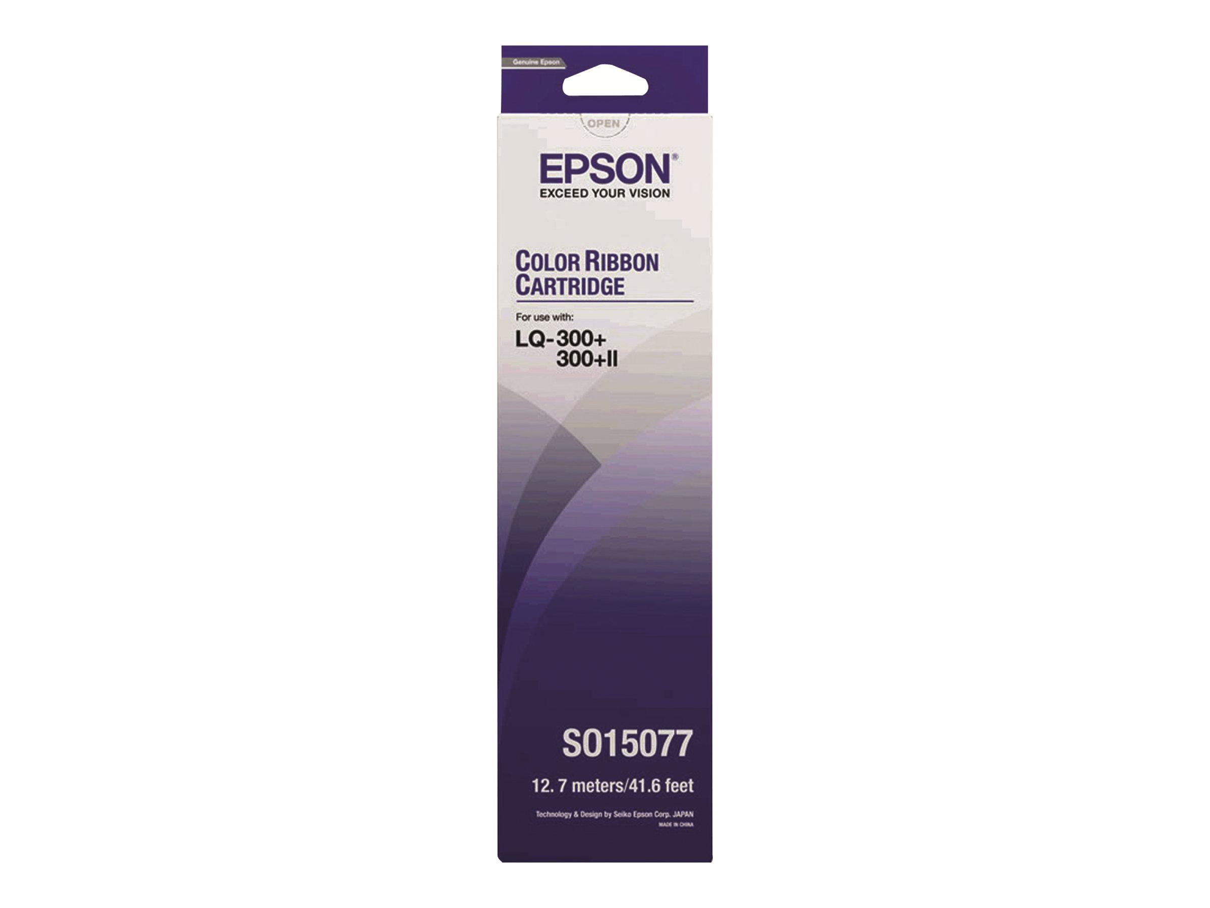 Epson - 1 - Schwarz, Gelb, Cyan, Magenta - Textilband - für LQ 300, 300+, 300+II, 300+II Colour