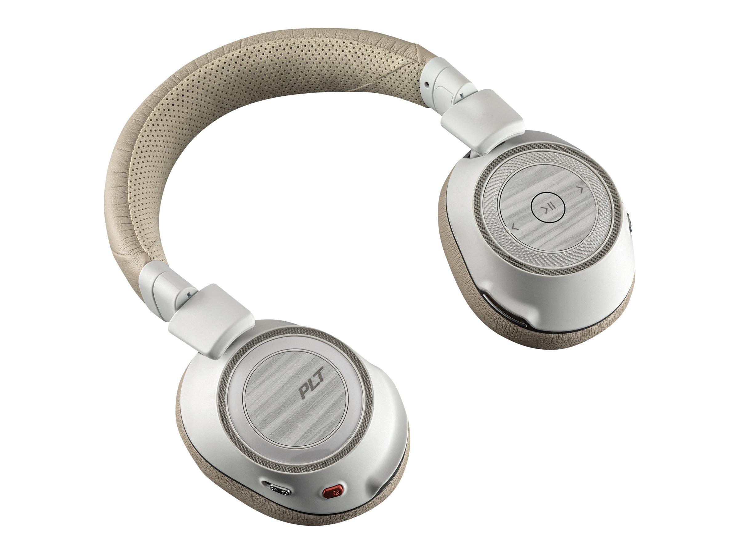 Plantronics Voyager 8200 UC - Kopfhörer mit Mikrofon - Full-Size - Bluetooth - kabellos - NFC