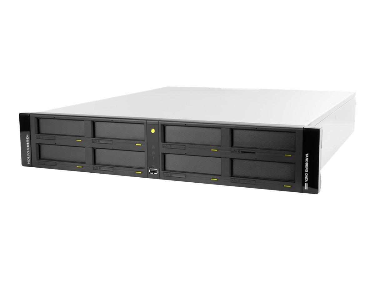 Overland Tandberg RDX QuikStation 8 - Disk-Bibliothek - RDX x 8 - 10 Gigabit Ethernet - Rack - einbaufähig