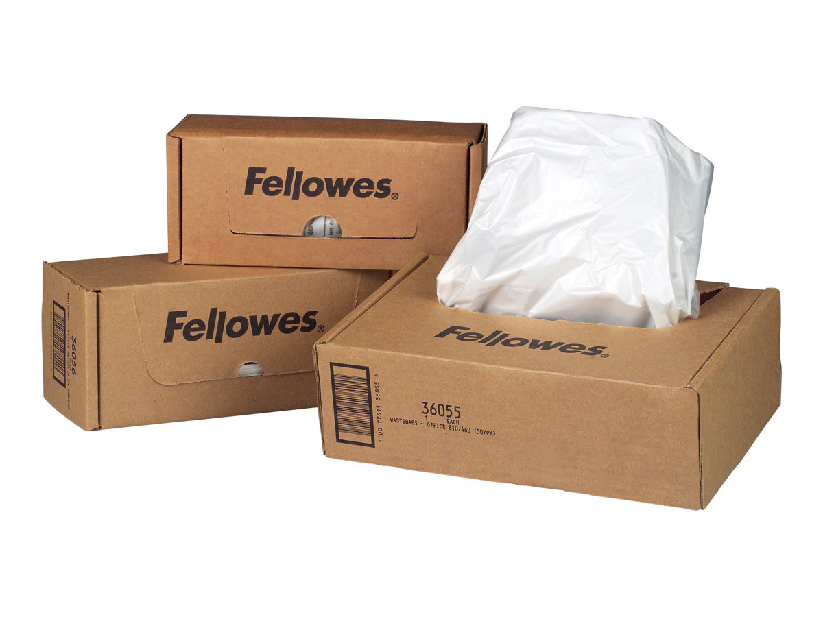 Fellowes Powershred - Müllbeutel (Packung mit 100) - für Fellowes 99; AutoMax 130, 200; MicroShred 99; Powershred 69, 90, 99, PS