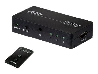 ATEN VanCryst VS381 - Video/Audio-Schalter - 3 x HDMI - Desktop