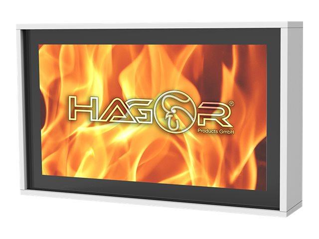 HAGOR HAG-BR-1 Series - Gehäuse für LCD-/Plasmafernseher - ESG-Sicherheitsglas, Gipskartonplatte - weiss - Bildschirmgrösse: 190