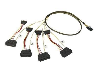 Lindy - Internes SAS-Kabel - 36 PIN 4iMini MultiLane (M) bis SATA-Stromstecker, interne SAS, 29-polig (SFF-8482) (M) - 1 m