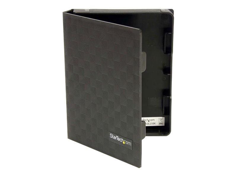 StarTech.com 2,5 Antistatische Festplatten Aufbewahrungsbox/Schutzgehäuse - HDD Schutzhülle 2,5 (6,4cm) - Schwarz - 3er Pack - F