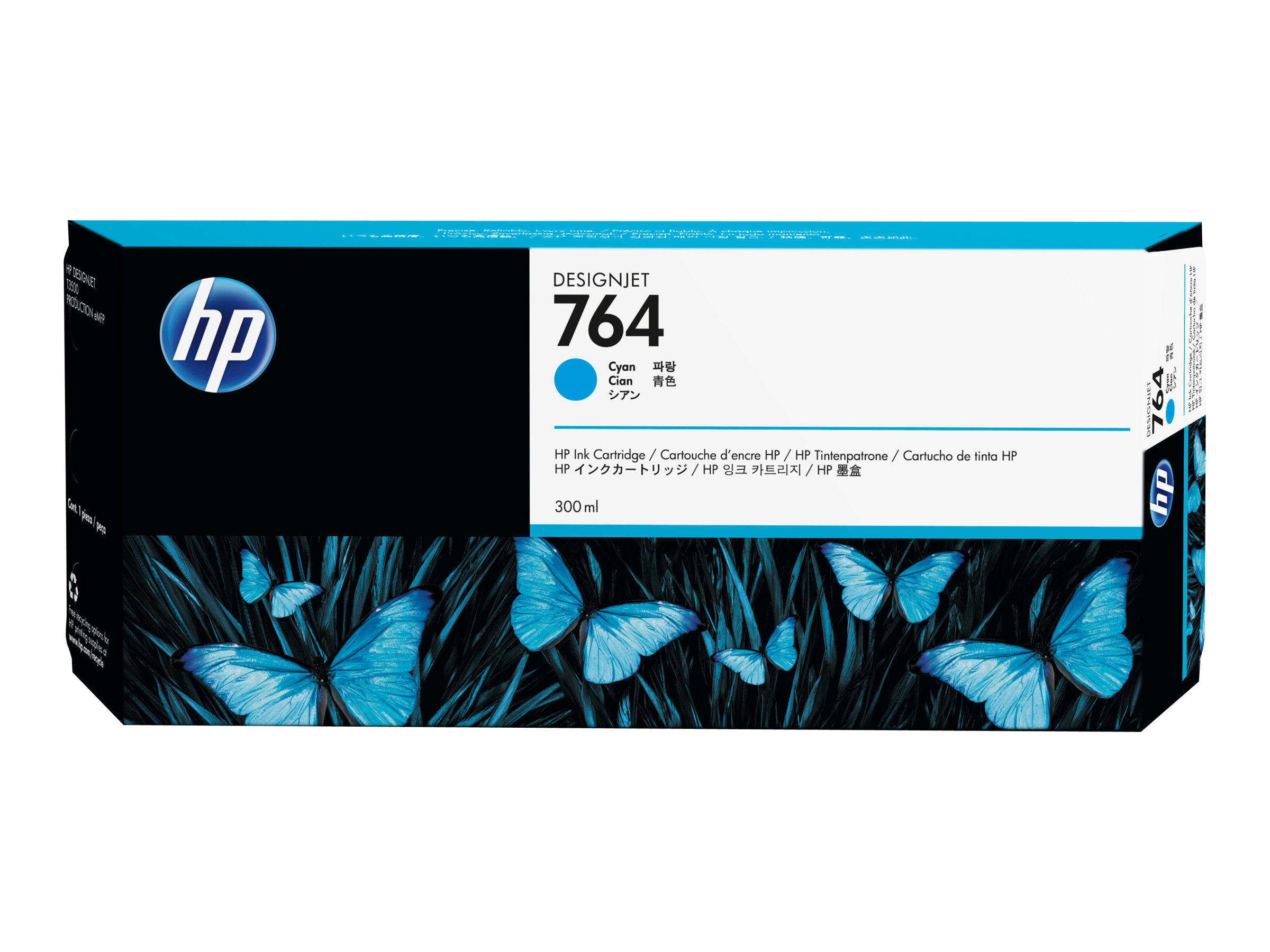HP 764 - 300 ml - Cyan - Original - Tintenpatrone - für DesignJet T3500 Production eMFP