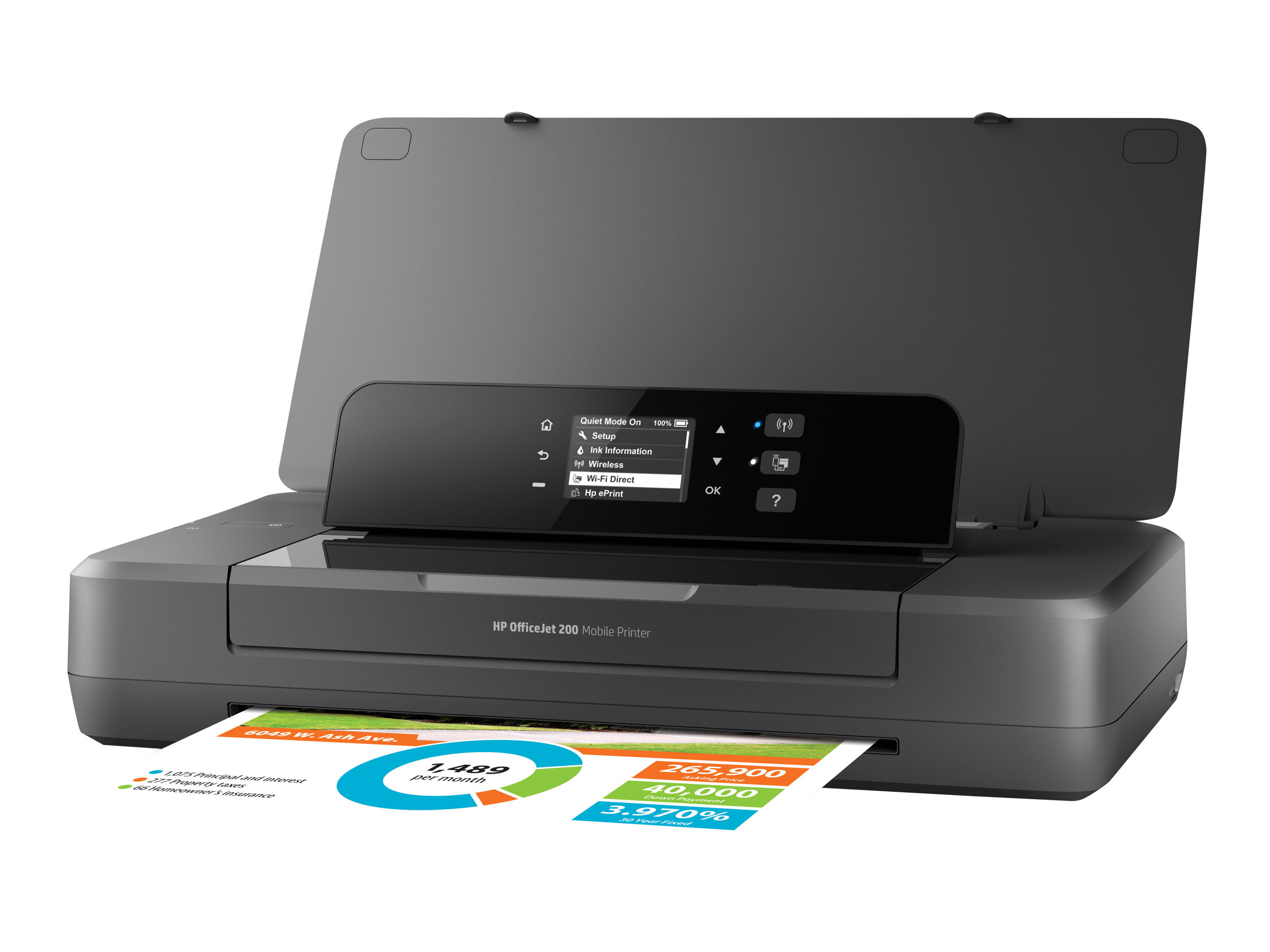 HP Officejet 200 Mobile Printer - Drucker - Farbe - Tintenstrahl - A4/Legal - 1200 x 1200 dpi