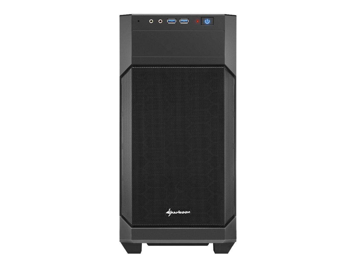 Sharkoon V1000 - Tower - micro ATX - ohne Netzteil - Schwarz - USB/Audio