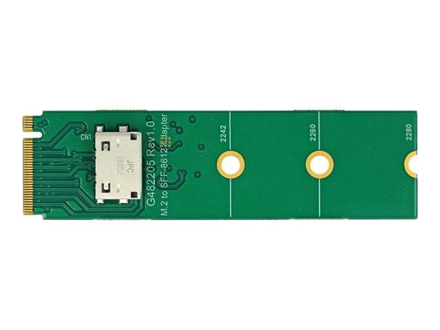 DeLOCK M.2 Key M to 1 x OCuLink SFF-8612 Converter - Schnittstellenadapter - M.2 Card