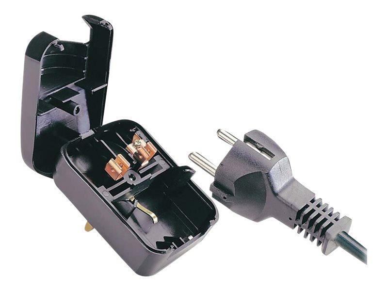 Lindy Earthed Schuko Plug Converter - Adapter für Power Connector - CEE 7/17 (W) bis BS 1363 (M)